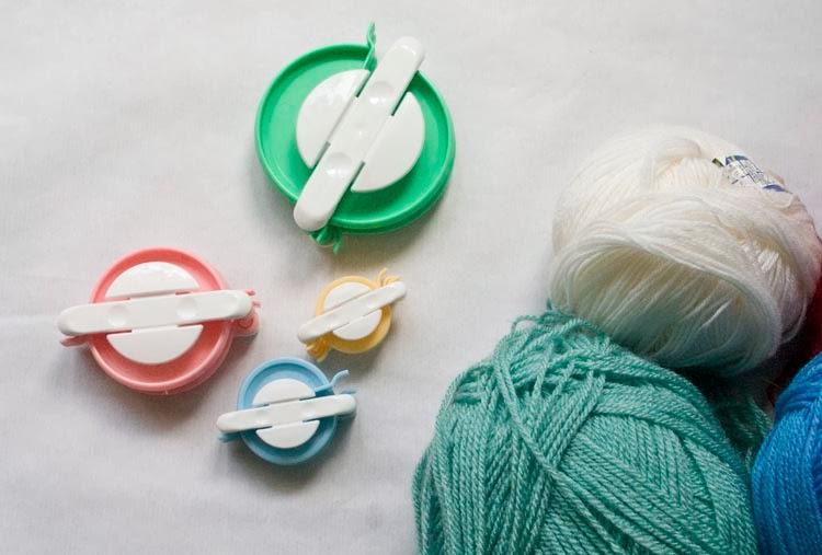 Pom Pom Loom, wool, yarn crafts, DIY notebook