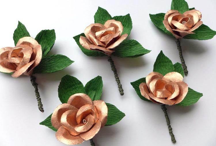 copper paper buttonholes