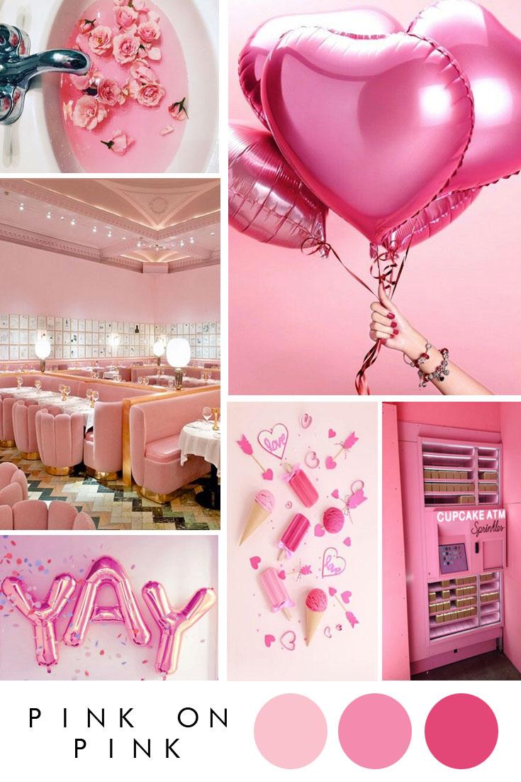 pink on pink wedding inspiration