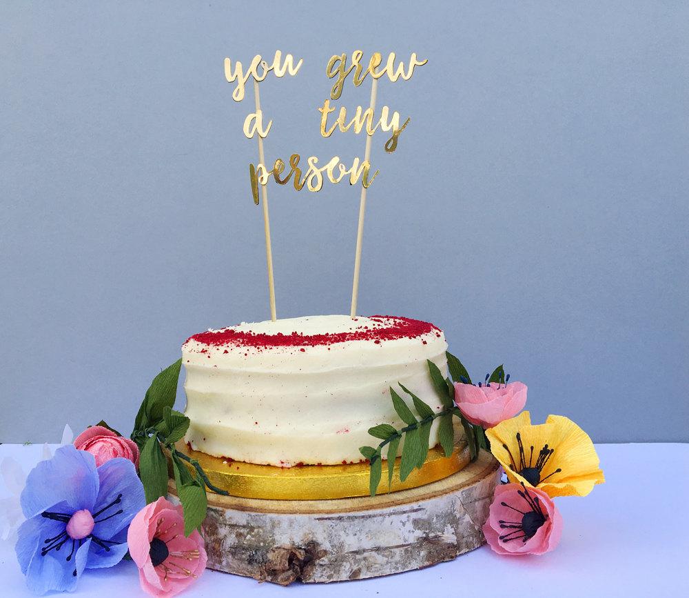 New Baby Cake Topper Gold Cake Topper Christening Decor Baby