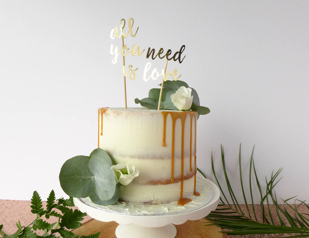 Song Lyric Cake Topper All You Need Is Love Wedding Cake