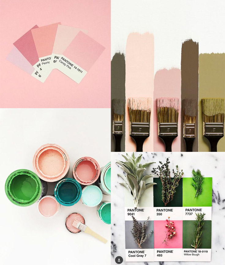 how to choose your wedding colour palette - image sources  1  /  2  /  3  /  4