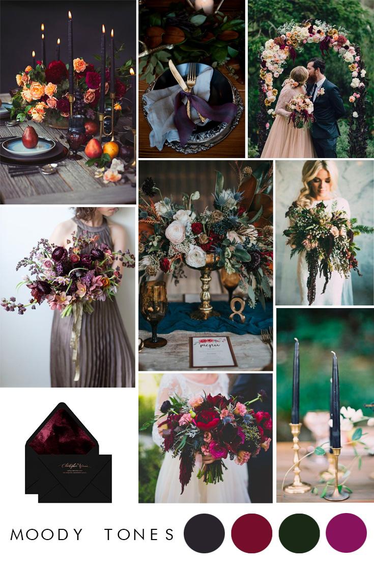 moody tones wedding inspiration