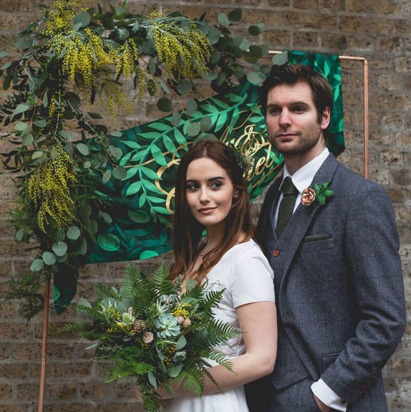 INDUSTRIAL BOTANICAL STYLED SHOOT -