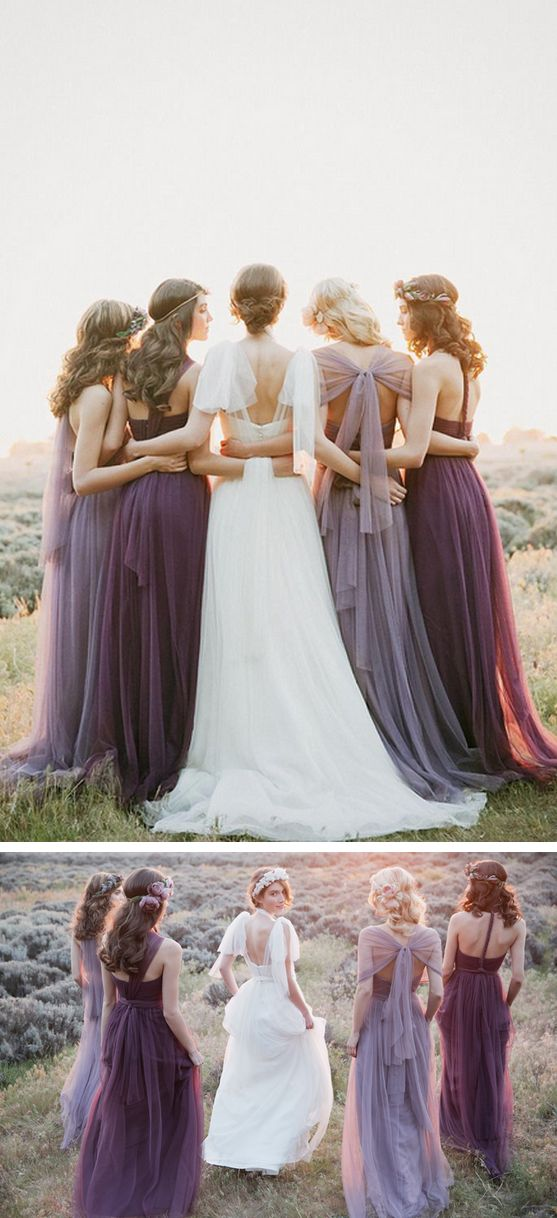 Amethyst bridesmaids dresses