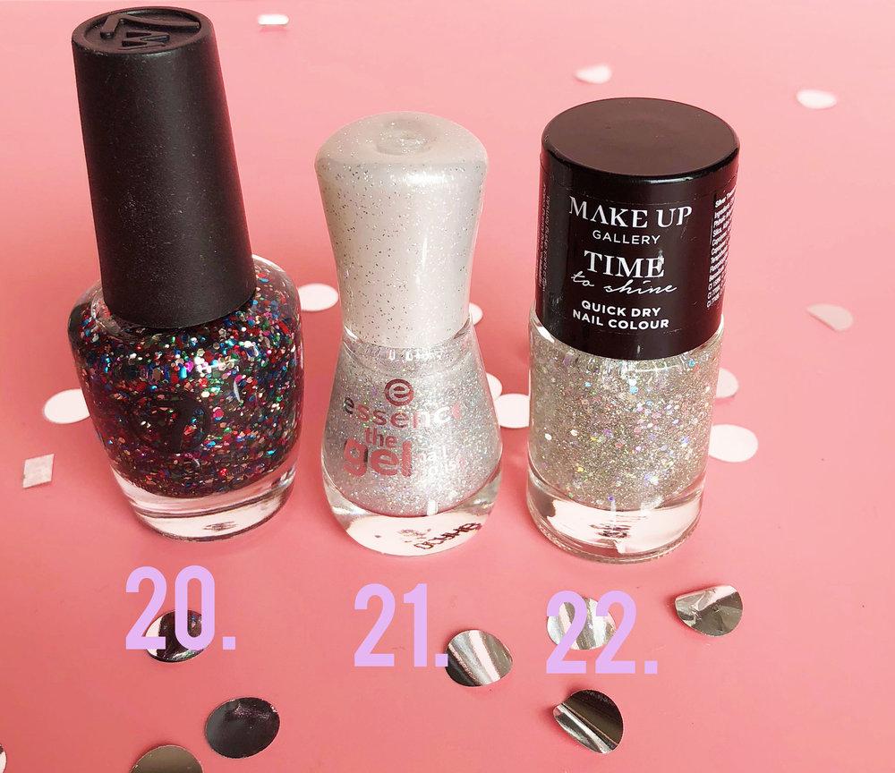 bridal glitter nails