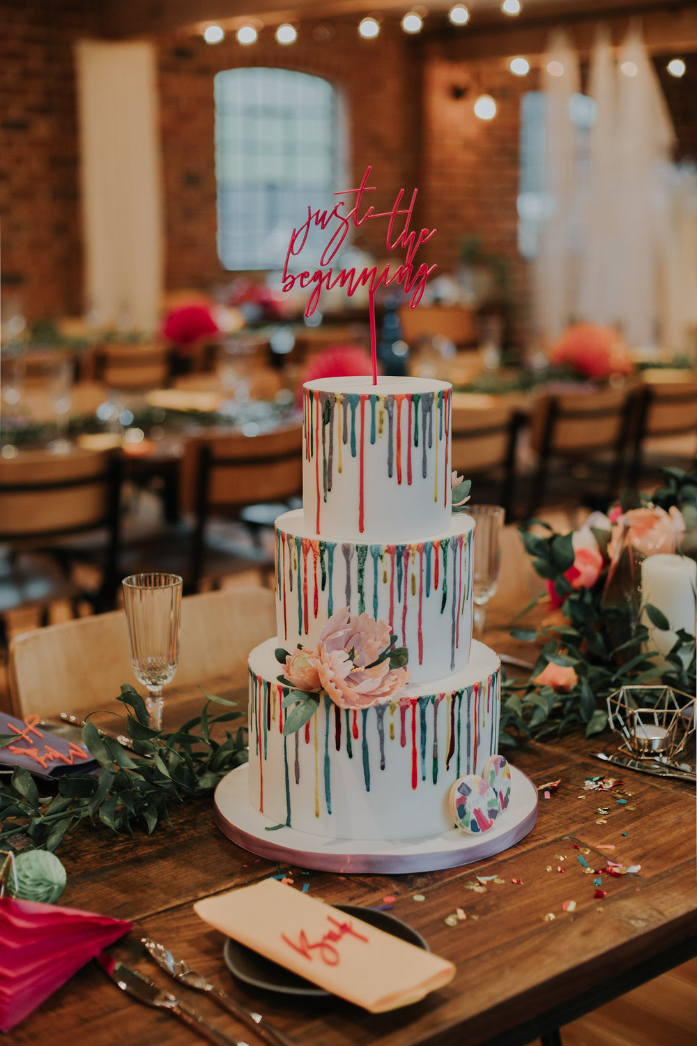 Photo by  Rebecca Emily Photography , Cake by  Knot & Bird.