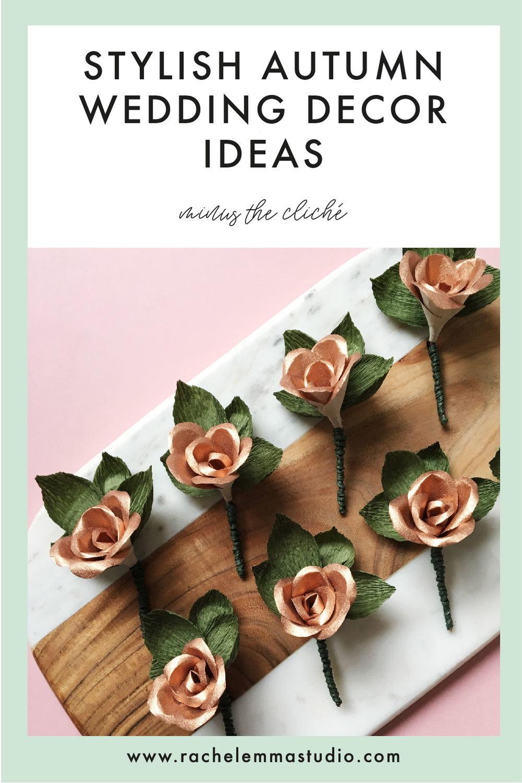 autumnal wedding decor ideas