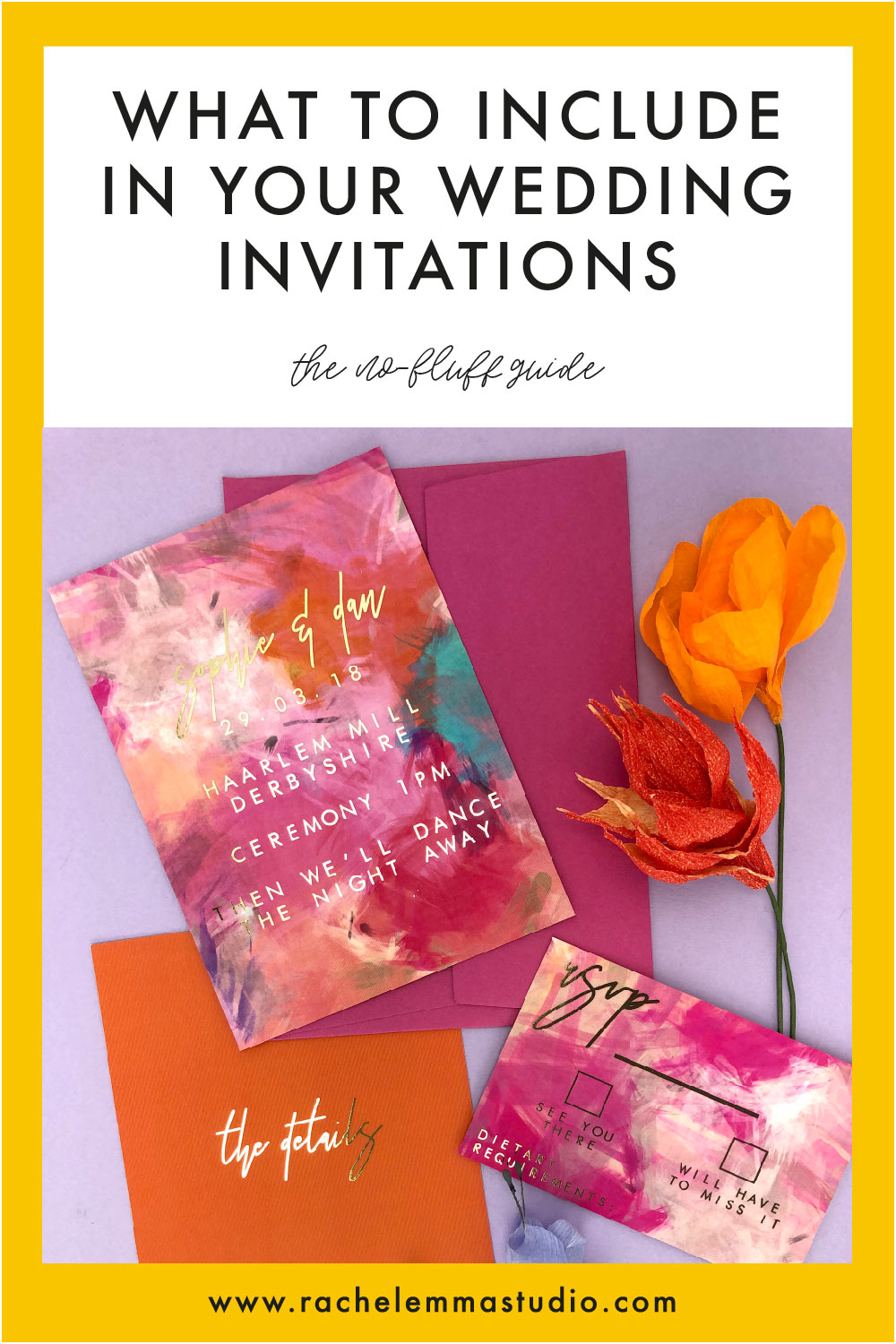 what to include in your wedding invites