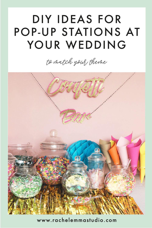 DIY wedding pop up station