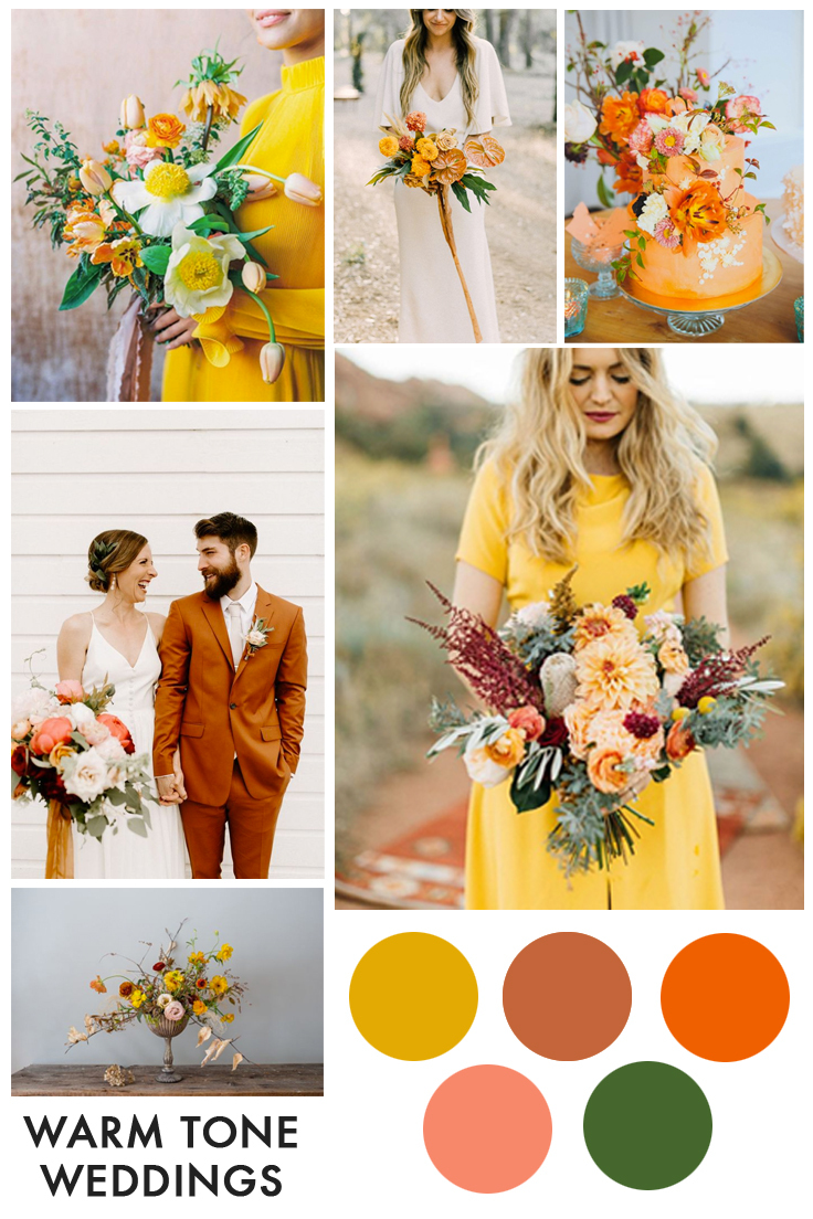 warm tones inspired wedding