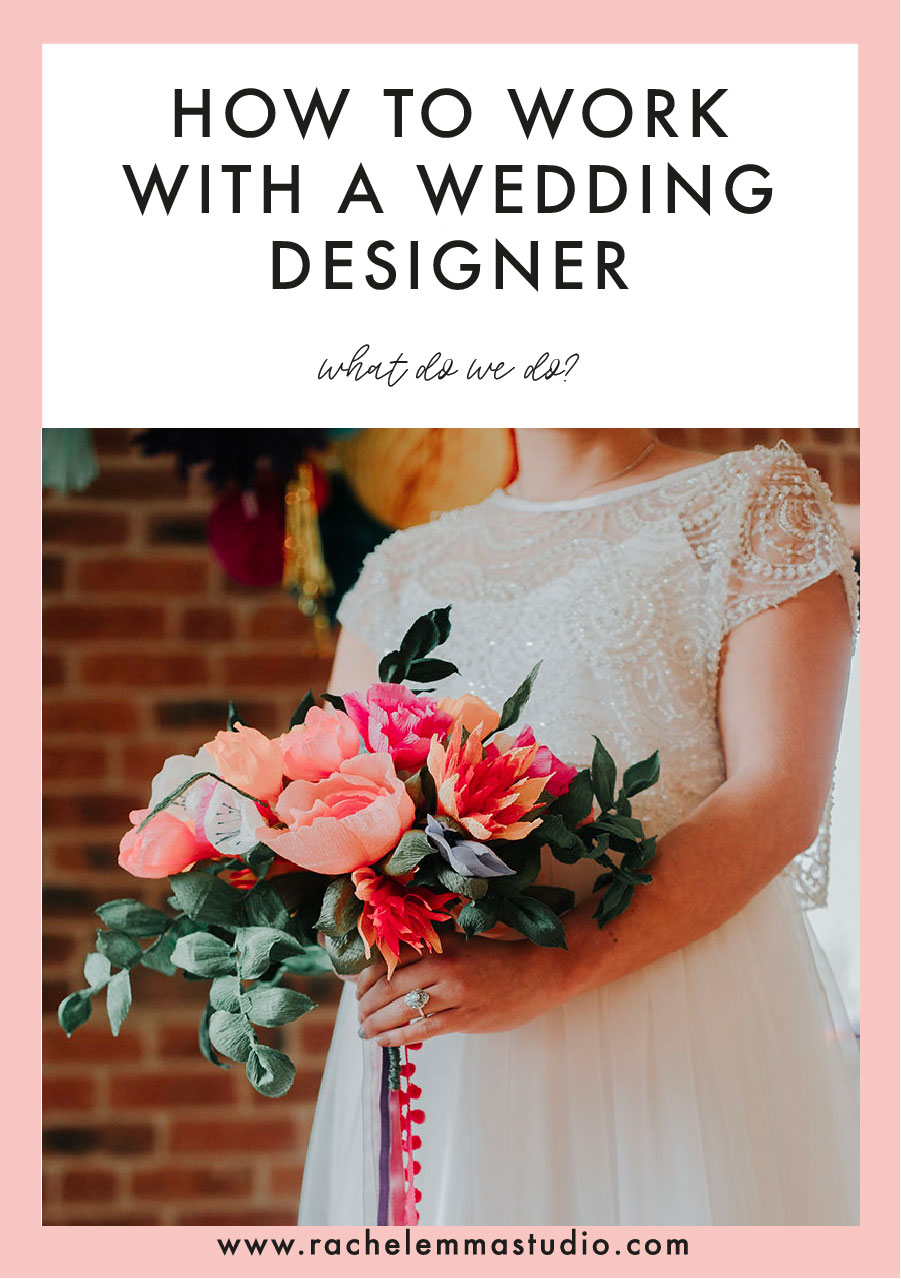 how to work with a wedding designer