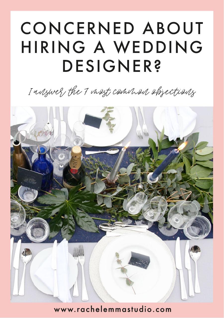 wedding designer concerns