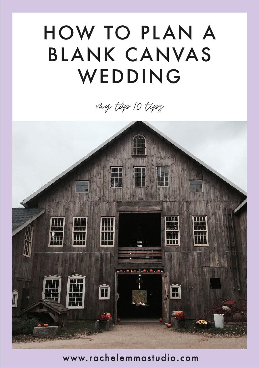 blank canvas wedding
