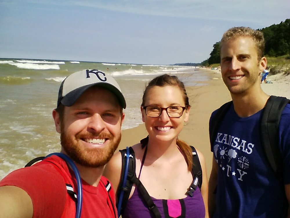 After our bike ride in South Haven, MI