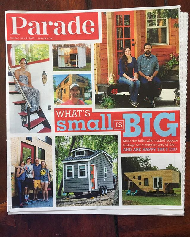 Anyone get a parade magazine recently? Our house is on the cover...apparently. #parademagazine #tinyhouse #wanderlust