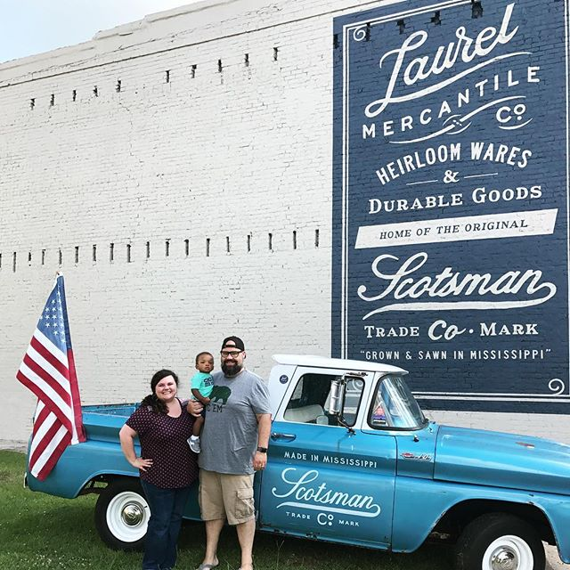 Last stop on the HGTV tour lol! Laurel, MS is just the cutest! @erinapier we just adored the Mercantile and your staff couldn't possibly have been any nicer or more helpful! #hometown