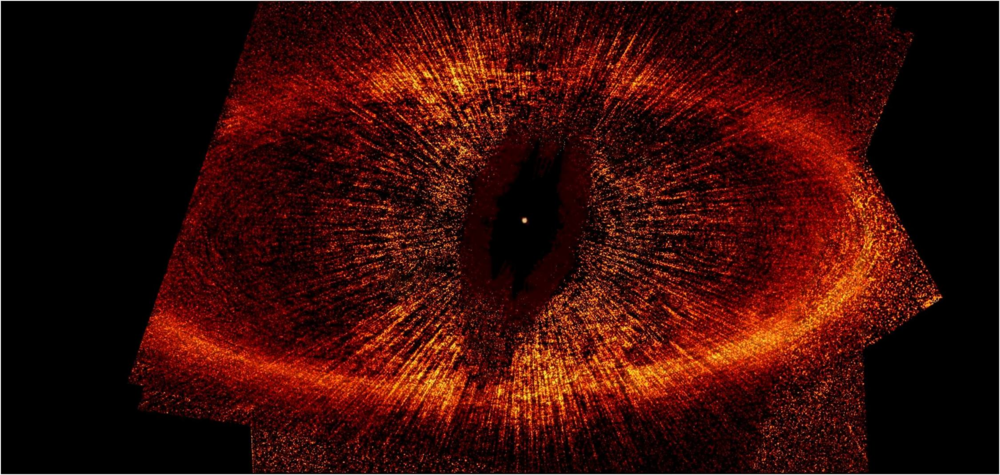 The debris disk around the Fomalhaut star. Image courtesy of NASA.
