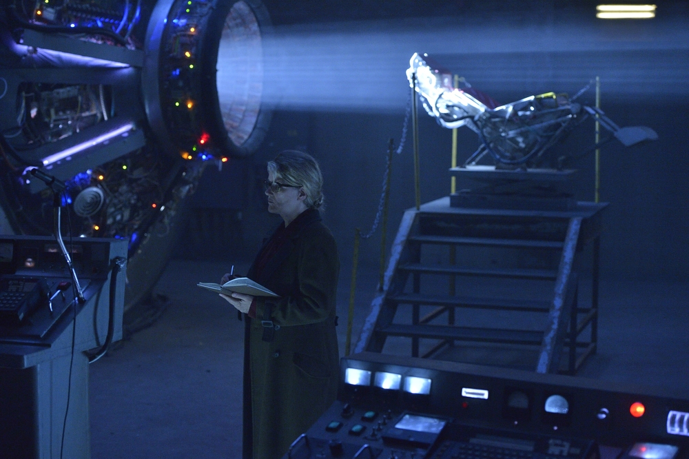 Dr. Katarina Jones (played by Barbara Sukowa), created a way to time travel and heads Project Splinter (Credit: Ben Mark Holzberg/NBC-Universal)