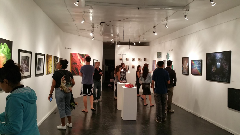 The enTANGLEment gallery on its opening night. Photo credit: bob nidever