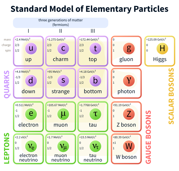 """The constituent particles of the Standard Model"" by  MissMJ  is licensed under  CC BY 3.0"