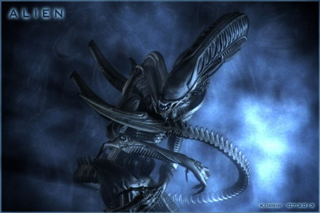 "Image 1 : An artist's rendition of a Xenomoroph from  Alien  (1979). "" Alien "" by  Korbib  is licensed under   CC BY-NC-ND 2.0"