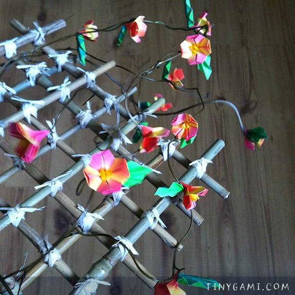 Summer artprize 2014 miniature origami by stacie tamaki origami flowers leaves mobile structureg mightylinksfo