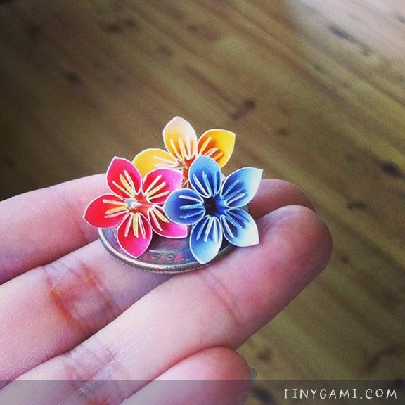 Tiny origami flowers choice image flower decoration ideas little origami flowers images flower decoration ideas summer artprize 2014 miniature origami by stacie tamaki tiny mightylinksfo