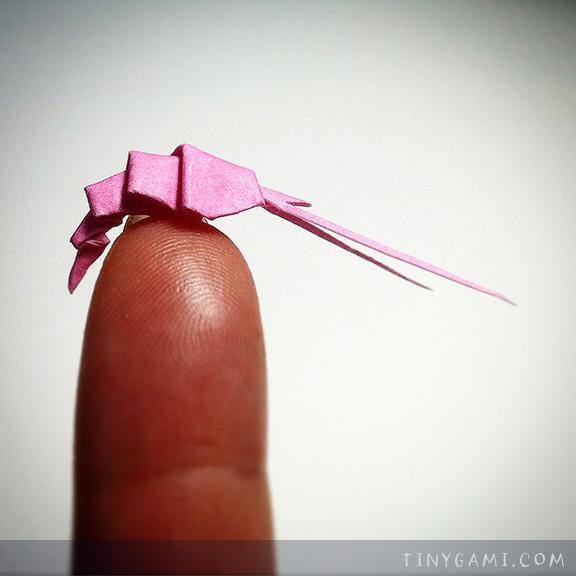 Tinygami Miniature Origami Shrimp TamakiJPG