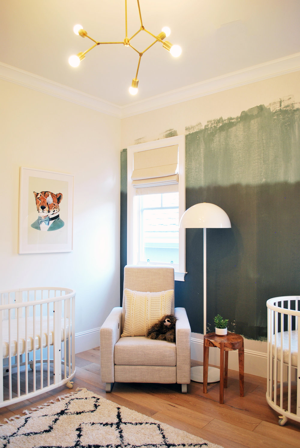 Casey Mason Interiors | Jungle-y Modern Nursery