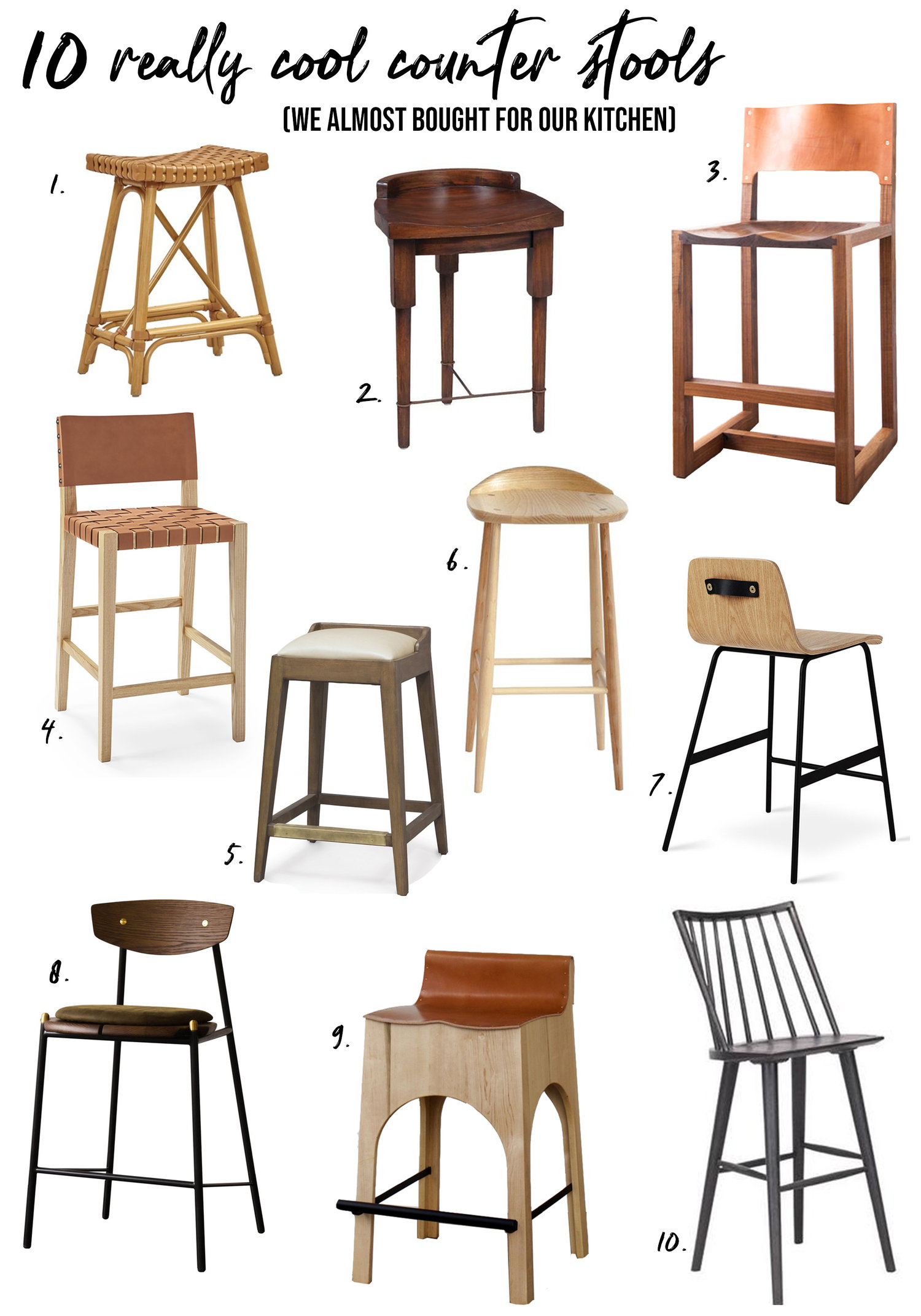 10 Really Cool Counter Stools We Almost Bought For Our Kitchen Casey Mason