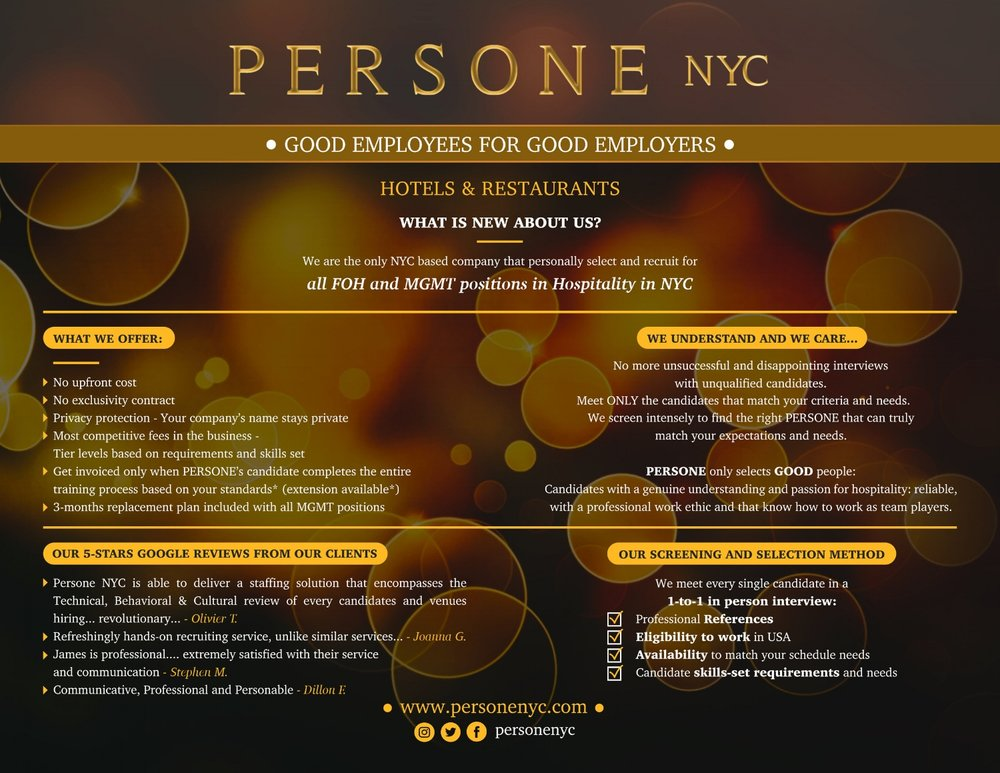 Persone Nyc Need Help Hiring New Management Click Here