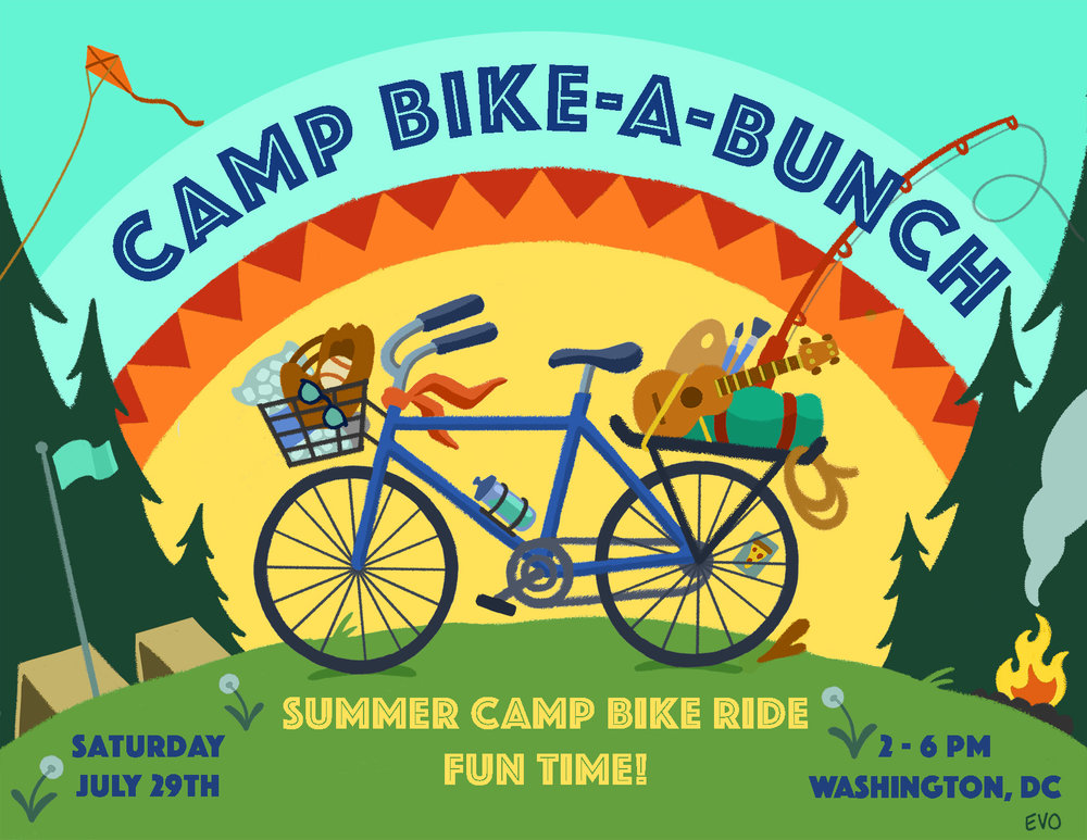 Camp Bike-A-Bunch Poster