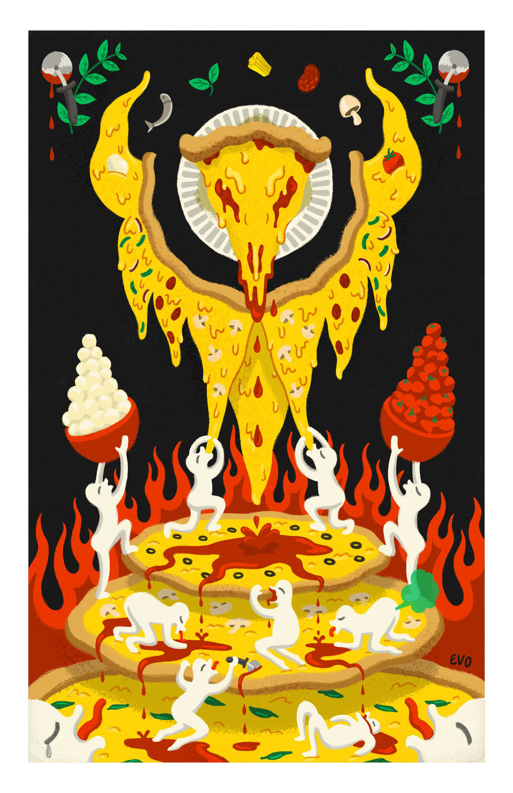 Pizza God Print