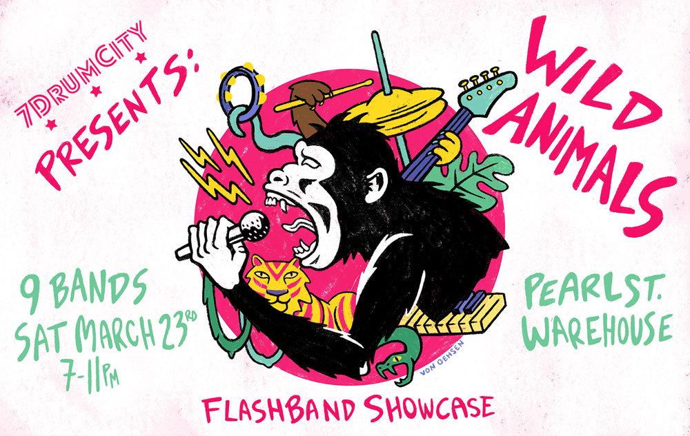 Wild Animals Flashband Poster