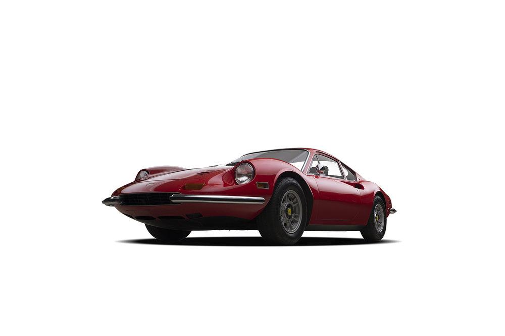 - 1972 Ferrari Dino 3-Quarter View