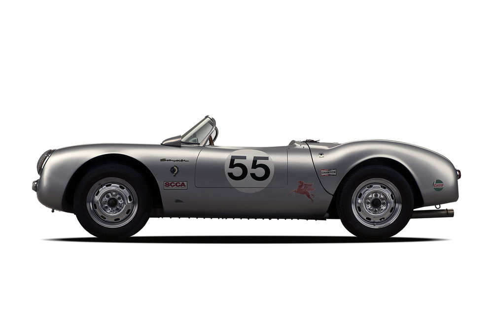 - 1955 Porsche 550 Spyder 3 Quarter-Recreation