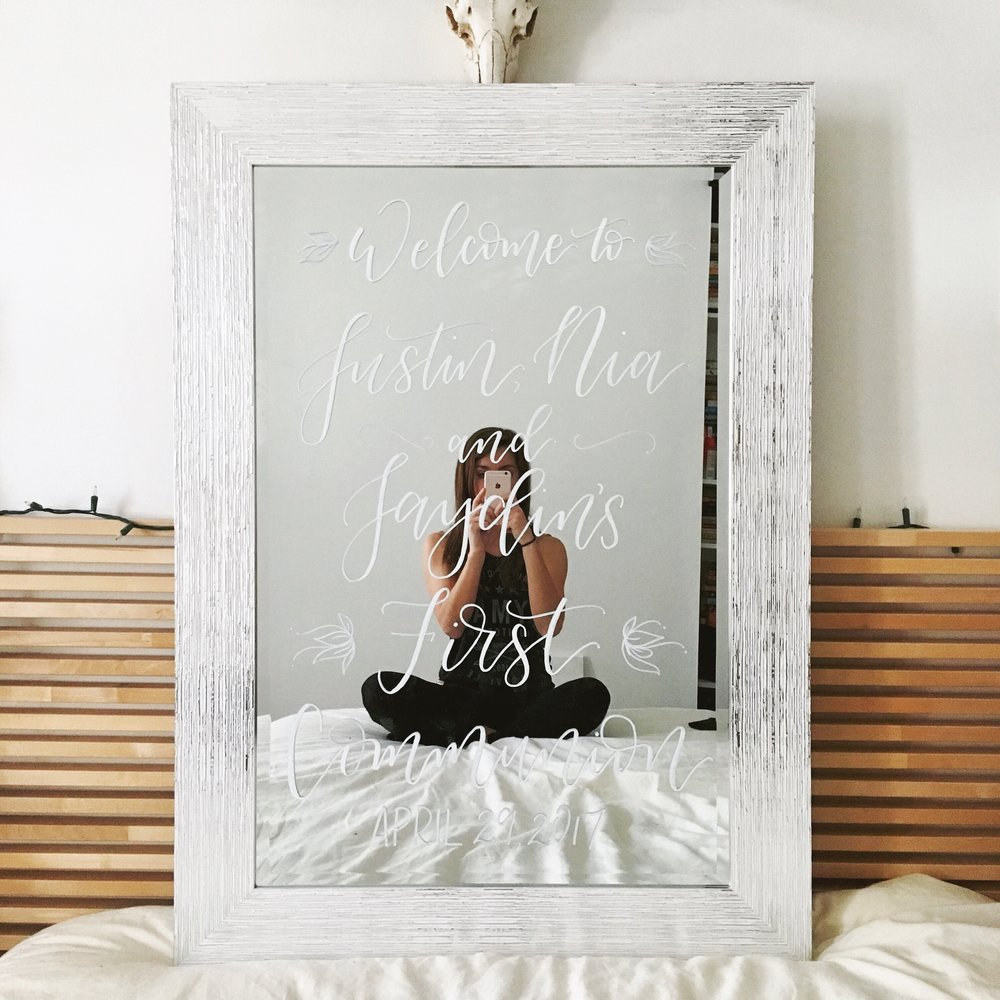 First Communion Welcome Mirror