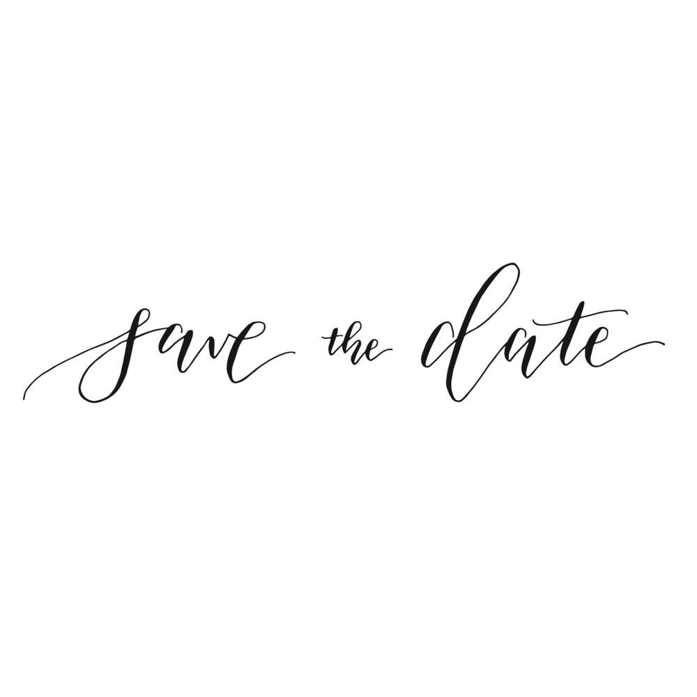 """Save the Date"" Spot Art"