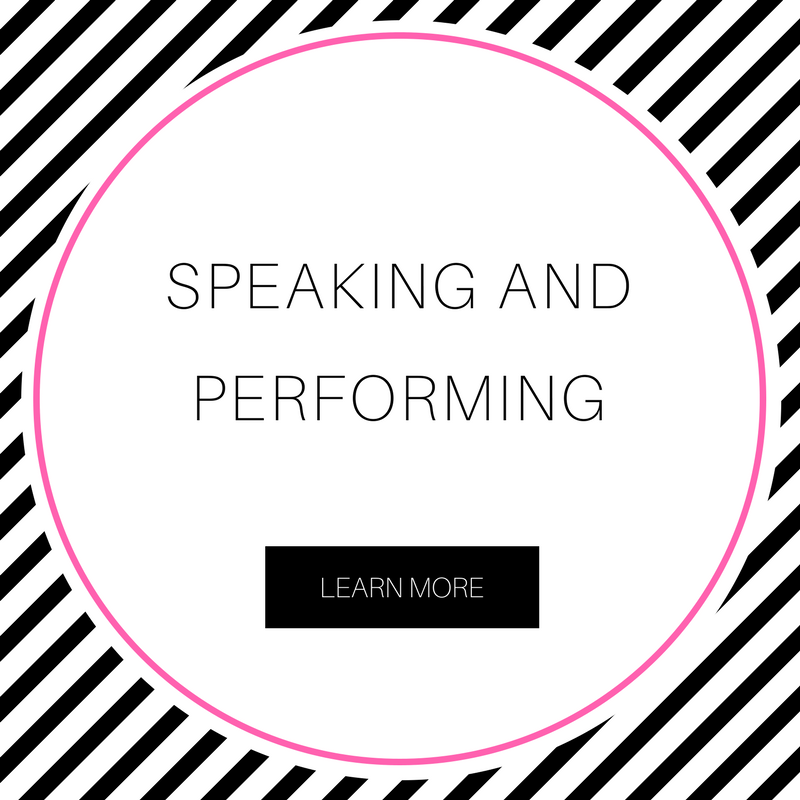 Speaking and performing always spark my creativity in a different kind of way. Are you looking to include a speaker or spoken word artist in an upcoming event? I'd be honored to be your girl. Click the image to learn more. -
