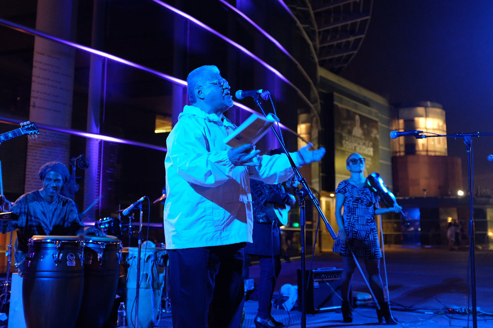 LA's 2014 Poet Laureate, Luis J. Rodriguez performing with Quetzal