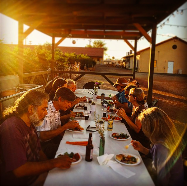 An intimate, outdoor meal under our ramada