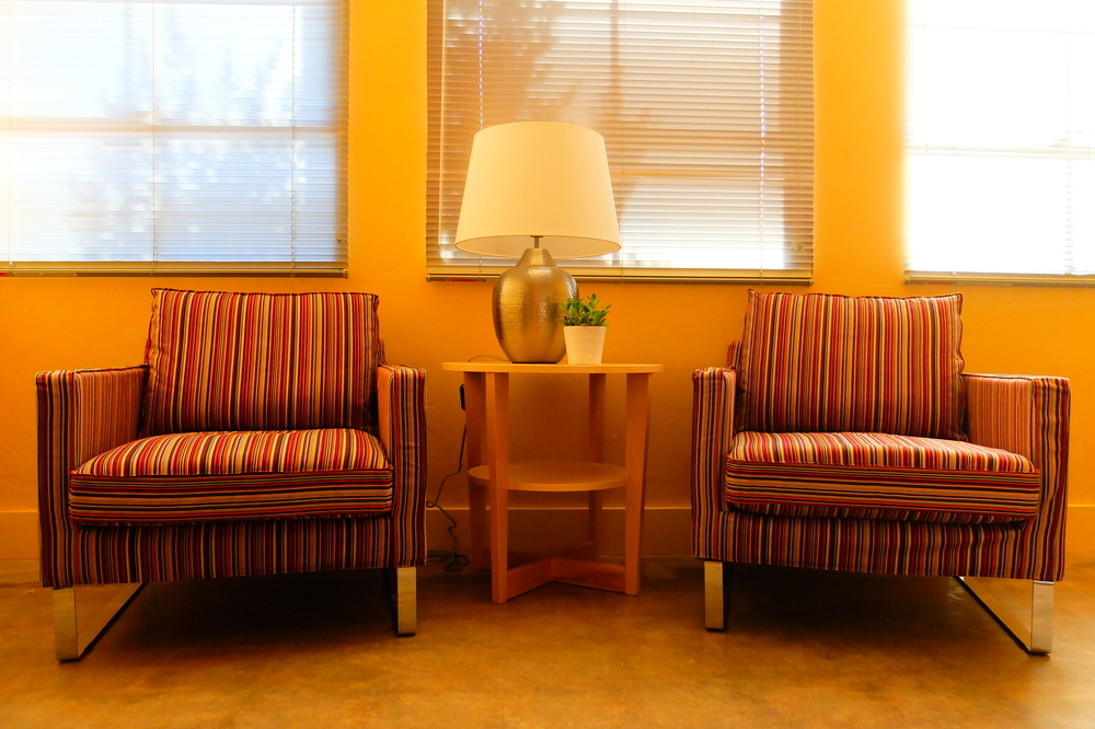 Each room has two comfortable chairs