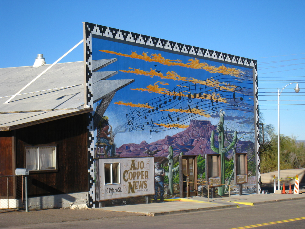 The Ajo Copper News building