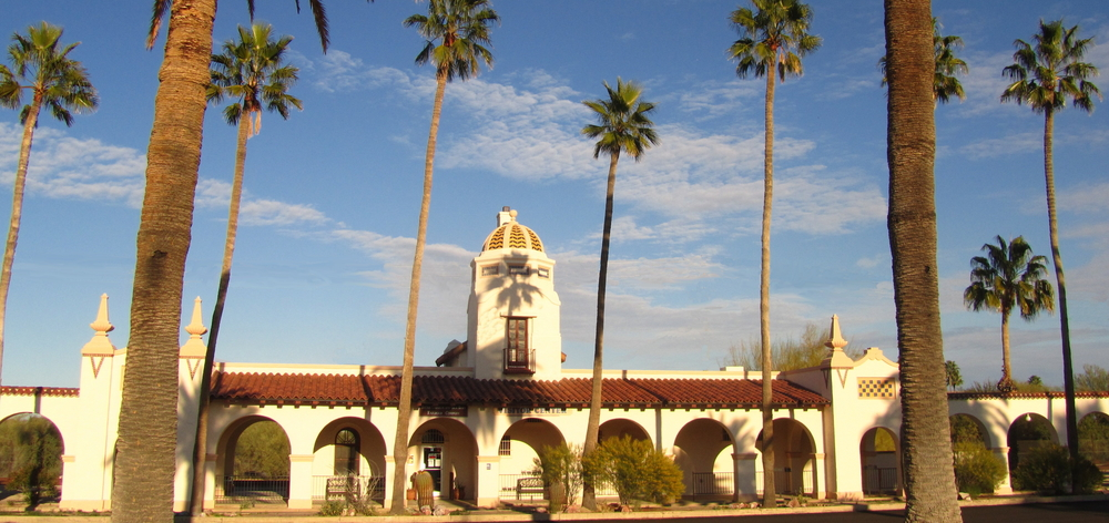 The former train depot, now the Visitor Center