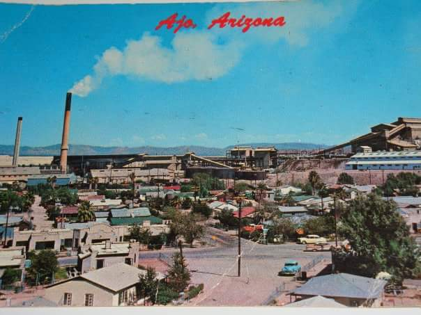 The old mining operation in Ajo