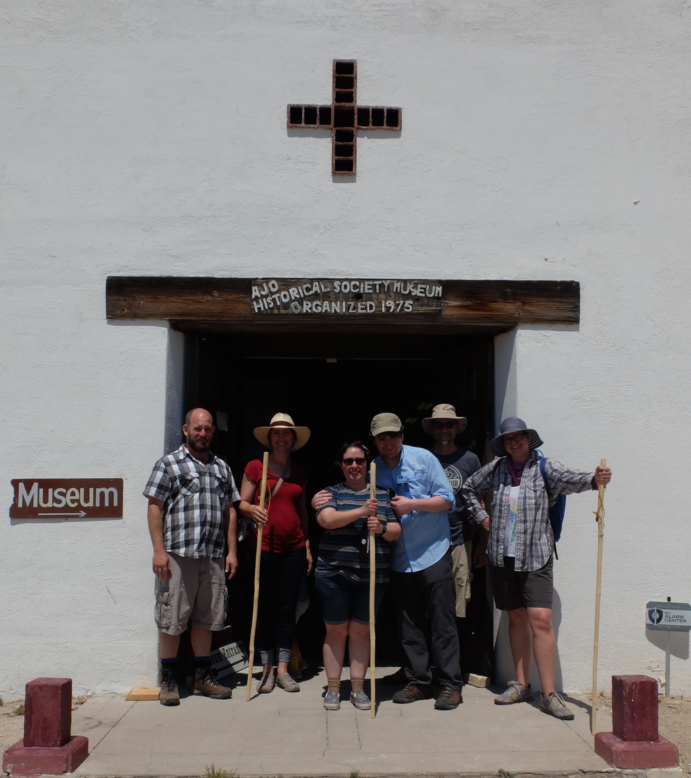 A group from the University of Arizona exploring Ajo's Historical Society Museum