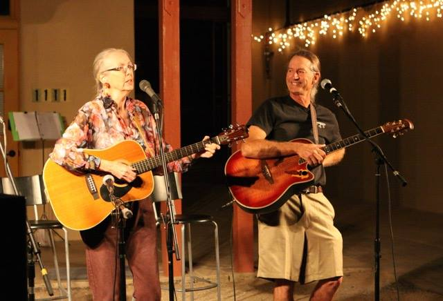 "A performance during the Ajo Center for Sustainable Agriculture's ""Music in the Garden"" fundraiser"