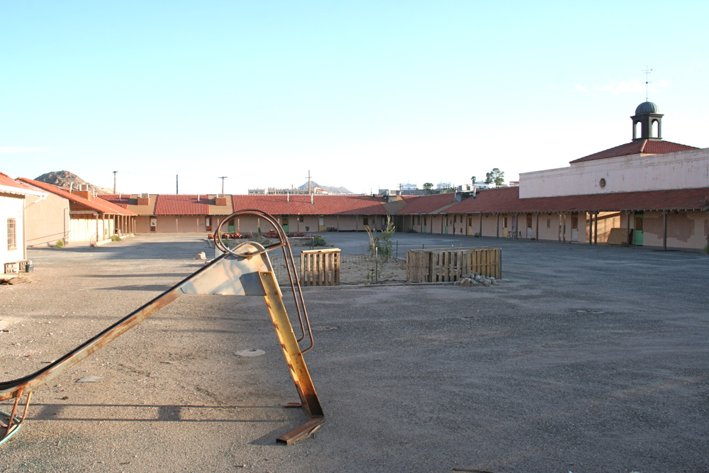 The school closed in the 1990s and was abandoned for 20 years. This was taken before the renovations began.