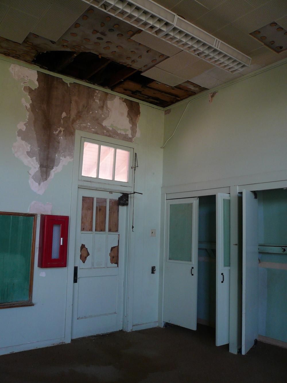 An old classroom, before it became a guest room.
